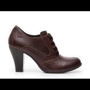 boc Zandi leather lace up oxford pumps